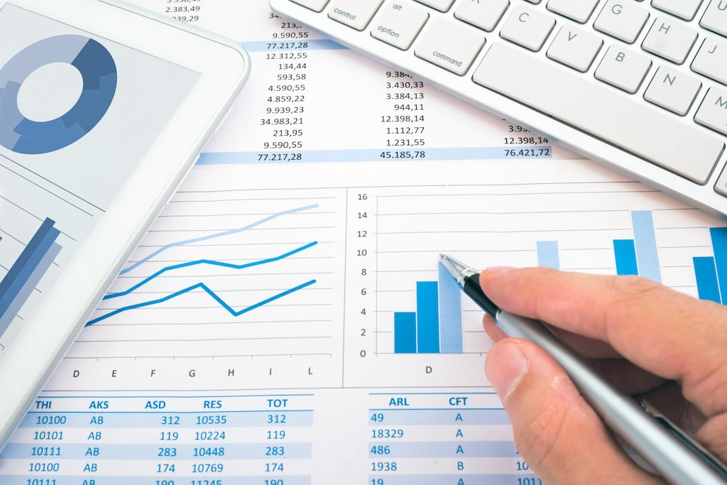 accounting graphs and numbers